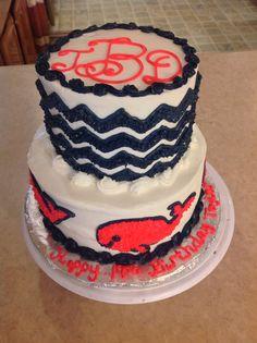 Chevron And Whale Birthday Cake Vineyard Vines