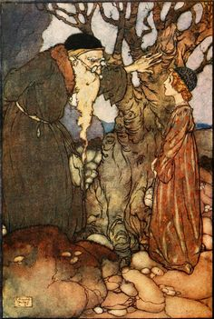 Edmund Dulac ~ Frontspiece The Bird of Shadows and The Sun Bird Fairies I Have Met by Mrs. (Maud Margaret) Rudolph Stawell Hodder and Stoughton ~ 1910