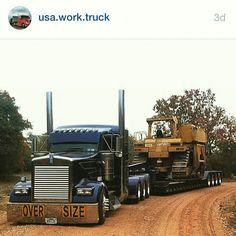 Semitrckn — Kenworth custom W900L heavy haul