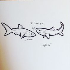 Draw Sharks Welcome to Sharktopia! Shark Tattoos, Body Art Tattoos, Megalodon, Save The Sharks, Shark Art, Cute Shark, In The Zoo, Shark Week, Animal Drawings