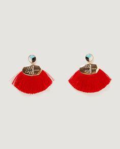 Image 2 of FRINGE EARRINGS from Zara