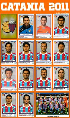 Catania of Italy team stickers for Italy Team, Football Cards, Baseball Cards, Italia Soccer, Scrapbooks, Real Madrid, Old School, Chelsea, Stickers