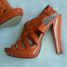 Like New! MARICHI MANI Platform Heels - Orange Like New and Never Worn! These babies were tried on two times, with different shirts/dresses, but never actually worn. No box. Please use the offer button for all offers. Feel free to bundle for a 10% discount. No trades, ladies. Marichi Mani Shoes Platforms