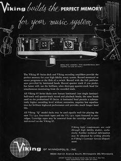 1960 ad for the Viking 85 reel to reel tape recorder review in the Reel2ReelTexas.com's vintage recording collection