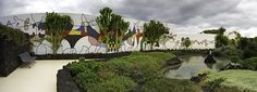 Ceramic tile mural at César Manrique Foundation (prev CM home), Tahiche, Lanzarote.