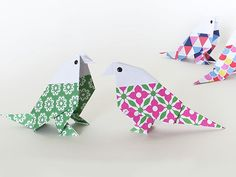 Créer une perruche en origami