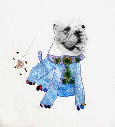Dibujos con mi papá - Perrito haciendo popo - 2012