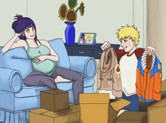 Yes, it's coincidence that Hinata is pregnant in this pic when there are rumors amok t. NH: Fashion for the future Anime Naruto, Naruto Comic, Naruto Cute, Hinata Hyuga, Naruto Shippuden Anime, Otaku Anime, Manga Anime, Naruto Family, Naruto Couples