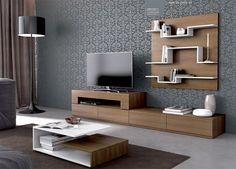 Wall Shelves And Lcd Cabinet Hpd548 - Lcd Cabinets - Al Habib Panel Doors
