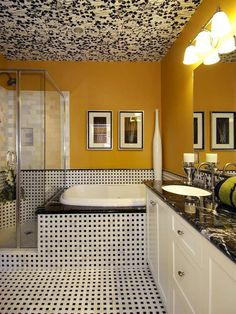 Decor in Yellow on Pinterest   Yellow  Yellow bathrooms designs and
