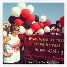 Reeves College participates at the Colonial Days parade in Lloydsminster Alberta Canada #reevescollege #balloons #students #staff #faculty #colonial #days #colonialdays #lloydsminster #alberta #parade #event