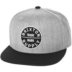 Brixton Oath III Snapback Hat ($28) ❤ liked on Polyvore featuring accessories, hats, pointy hat, brixton snapback, brixton hats, snapback hats and long hat