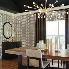 chandeliers for dining room contemporary. Modren Dining Sputnik Chandelier Contemporary Dining Room Lizette Marie Interiors In Chandeliers For Dining Room Contemporary