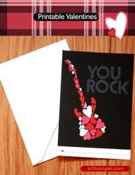 Free Printable You Rock Valentines Day Card via LivingLocurto.com