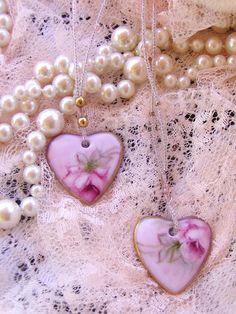 pretty floral hearts