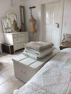 Pale and french. Perfect for a guest bedroom