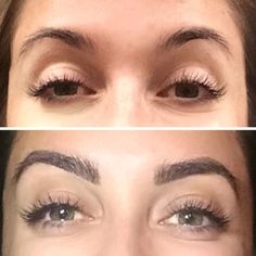 Eyebrow Extensions Before & After #skinbyzana http://www.skinbyzana.com/lashes-