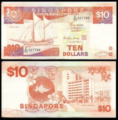 """Pick Catalog: Banknote Book Our rule is """"Different signature equal Different banknote""""! If you are looking for banknote with certain signature - ask us to be sure. History Of Singapore, Singapore Photos, Singapore Dollar, Money Notes, Samsung Galaxy Wallpaper, World Coins, Red Dots, Old Pictures, Postage Stamps"""