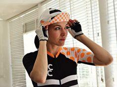 Hors catégorie cycling cap - orange and black #cyclingcaps