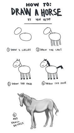 Another horse. | 17 Diagrams That Will Help You Draw (Almost) Anything