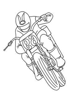 30 Disegni di Moto da Stampare e Colorare   PianetaBambini.it