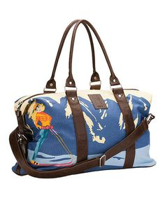I actually miss the snow...Another great find on #zulily! Blue Sunshine Weekender Duffel Bag by Neve #zulilyfinds