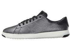 Cole Haan Grandpro Tennis Women's Lace up casual Shoes Black/Gunmetal Snake