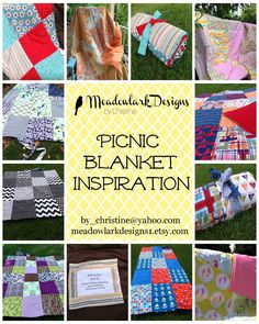 Picmonkey Collage.  Here is a little picnic blanket inspiration brought to you by Meadowlark Designs.