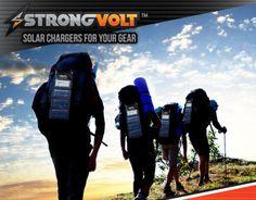"""다음 @Behance 프로젝트 확인: """"StrongVolt SmartCharger - Most Advanced Solar Charger""""…"""