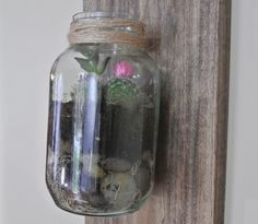 Succulent Garden Ideas - DIY Mason Jar Succulent Terrarium