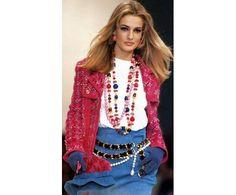 Karen Mulder au défilé Chanel en 1991