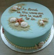 Casual beach vow renewal (2nd ceremony - destination) cake idea