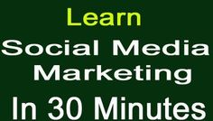 Facebook Social Media Marketing In 30 Minutes Only https://www.youtube.com/watch?v=YdOrkS1ziVQ