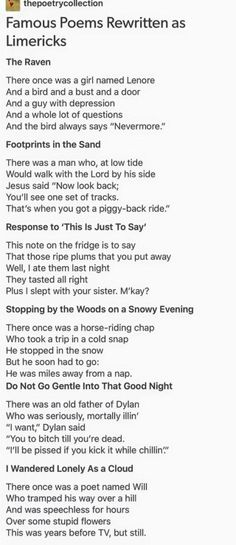 Famous Poems Written as Limericks Creative Writing, Writing Tips, Writing Prompts, Writing Poetry, Writing Skills, Short Friendship Quotes, Funny Friendship, Tumblr Funny, Funny Memes