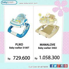 Gunakan baby walker untuk membantu anak Anda belajar berjalan.  Gratis ongkir Jabodetabek.