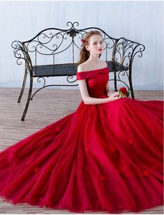 Red Prom Dress,Illusion Prom Dress,Off The Shoulder Prom Dress,Fashion Prom Dress,Sexy Party Dress, New Style Evening Dress