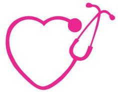 Stethoscope Monogram Monogram Heart Stethoscope Silhouette Heart