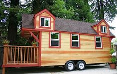 Tiny house with two lofts and a large porch; perfect!