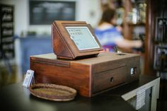 Wooden iPad cash register. Amazing. This is definitely happening.