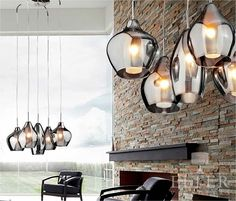 Long Drop Ceiling Pendants Gorgeous Five Light Cer Pendant With Smoked Iridescent Gl Shades Kitchen Lighting