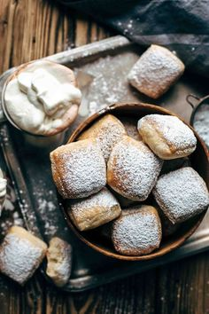 The one and only Baked Buttermilk French Beignets recipe you need. Baked not fried! So easy to make. With simple trick just 45 min. rising time. + VIDEO!