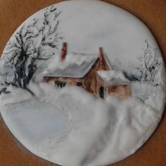 Winter scene cookie