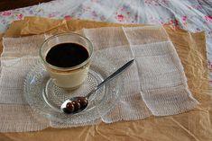 Panna cotta au café et coulis d'expresso