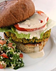 Fabulous Un-fried Falafel Burgers/ Gluten free oats can be used. Shared by www.celestialhealthcoaching.com