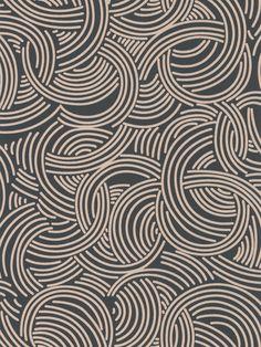 Tourbillon Black and Beige wallpaper by Farrow & Ball