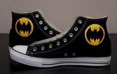 Batman Shoes Converse by certainclouds on Etsy Batman Converse, Batman Shoes, Bling Converse, Batman Outfits, Converse Shoes, Shoes Sneakers, Converse High, Buy Shoes, Me Too Shoes