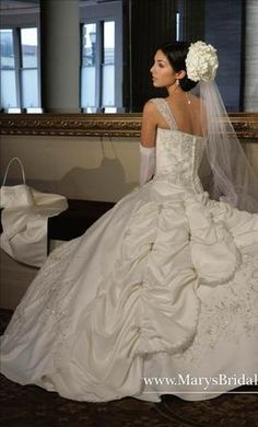 Mary's Bridal S08-8611 14: buy this dress for a fraction of the salon price on PreOwnedWeddingDresses.com
