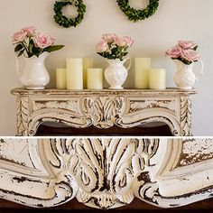 Each corbel wall shelf are a French inspired white wall shelf that are beautiful vintage decor. Use this floating wall shelf to display and show off all your favorite pieces. For more visit, Decor Steals.