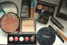 brown make-up with polish comstics