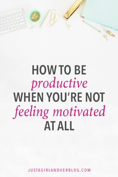 How do you be productive when you're not feeling motivated? This post has so many helpful tips! Productivity Tips Burn Out, Productivity Apps, How To Increase Productivity, Startup, Time Management Tips, Business Management, Study Tips, How To Stay Motivated, Self Development